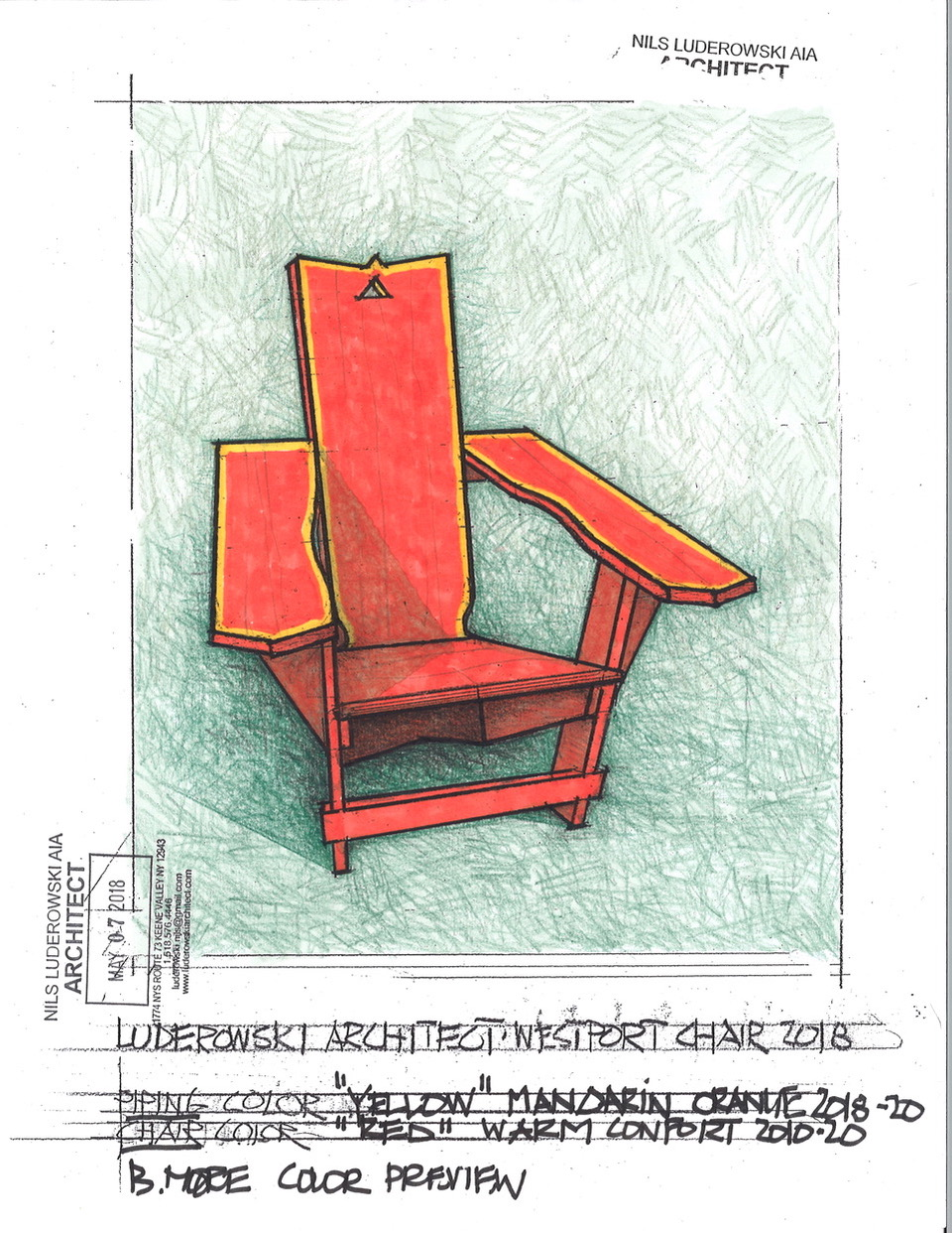 Westport Chair Drawing