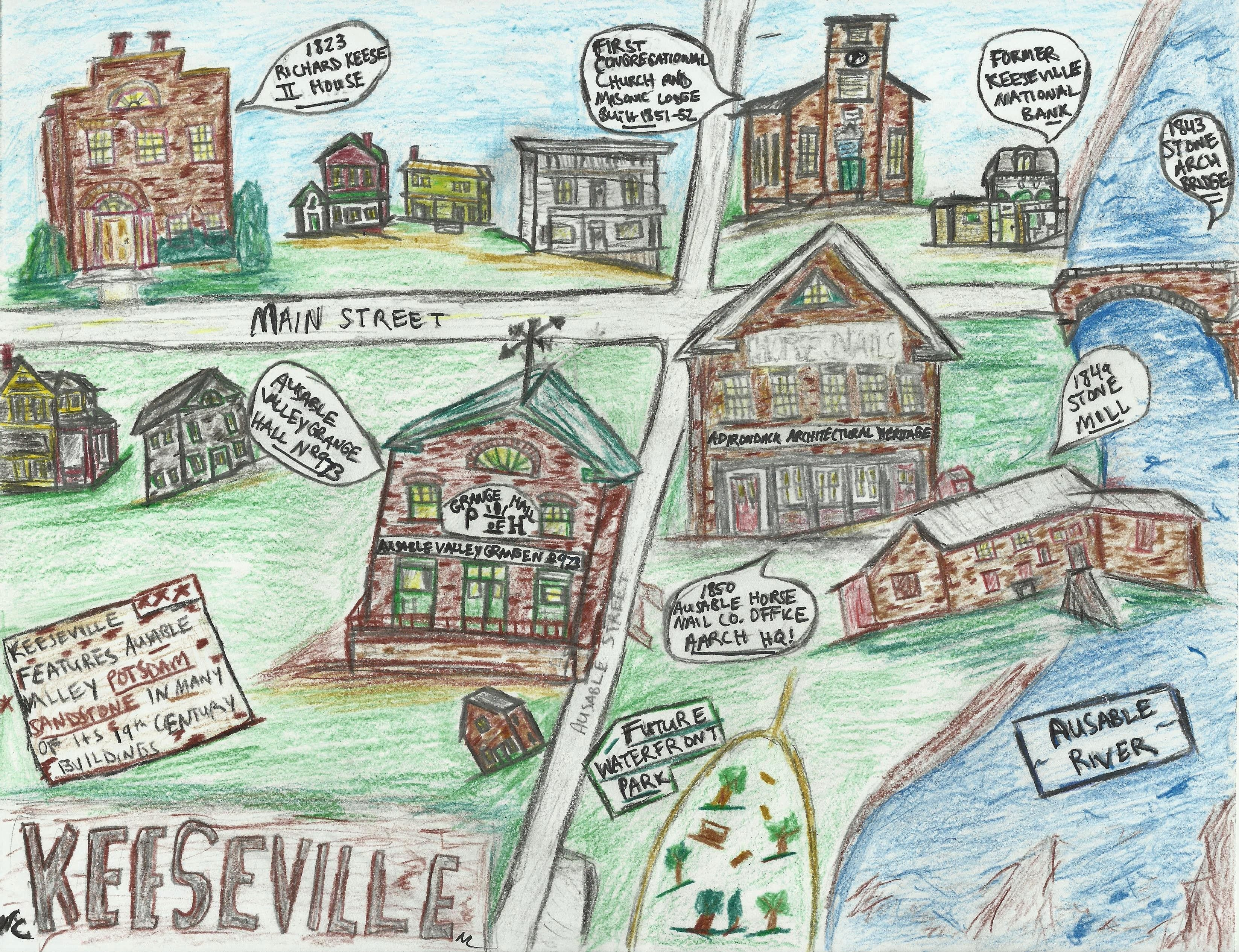 Keeseville Map